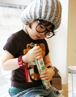 Fashion Aplique Letter winter hat for kids & Adult Wool Knitted hat Free shipping