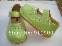 Girl Traditional Green Squeaky Shoes Free Shipping