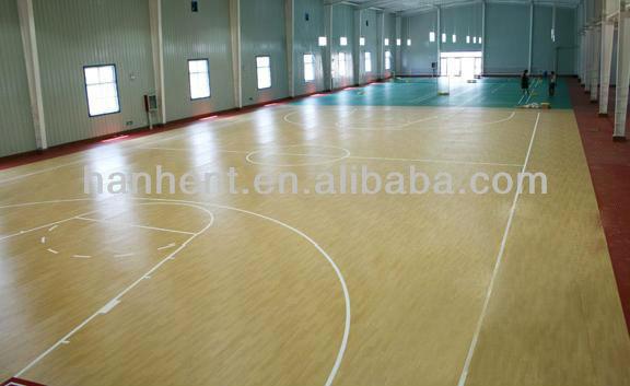 Revêtements de sol en vinyle en rouleaux pour l'école de sport