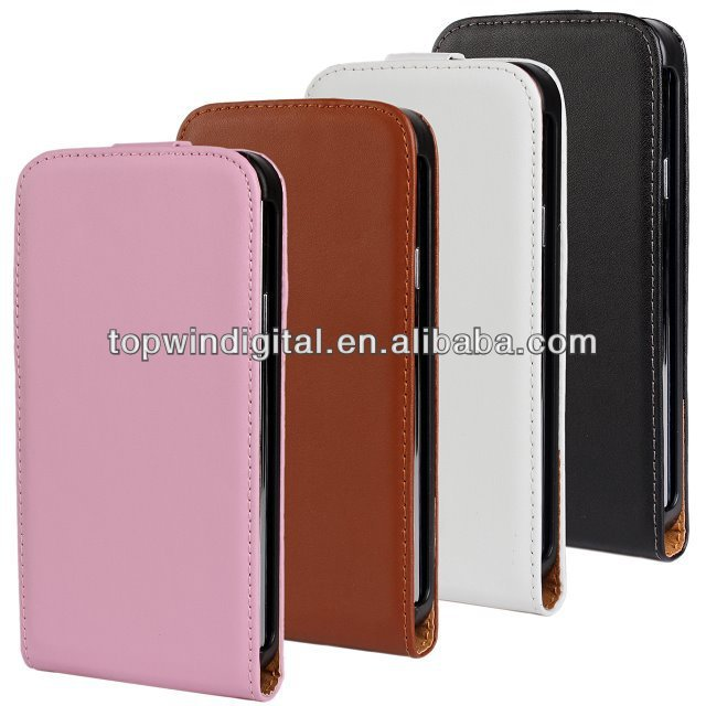Original Up-Down Flip Genuine Leather Case For Samsung Galaxy S5