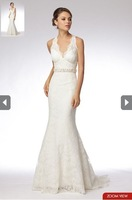 Free shipping 100%gurantee high quality trumpet sheath sexy wedding dresses