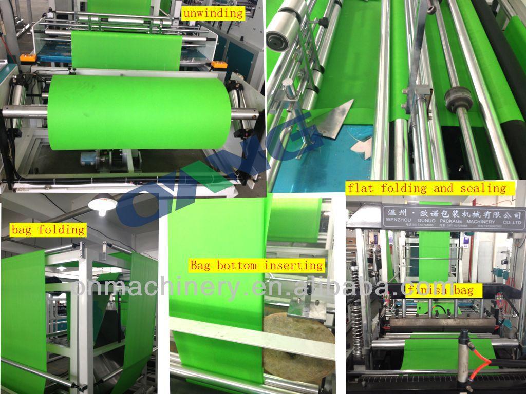 Der neueste Entwurf der vollen automatischen nicht gesponnenen Taschenmaschine mit Griffbefestigung (ONL-XB700-800)