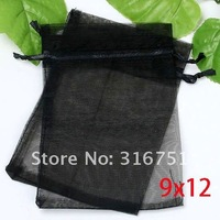 100pcs Random Mixed Drawable Organza Wedding Gift Bags&Pouches 12x9cm (w00458)