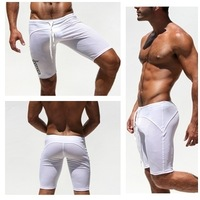 Мужские шорты mens swimwear swimsuits sport middle sexy gym summer beach pants shorts sea tight fashion L XL