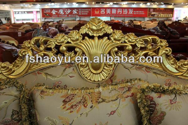 Luxe royal en bois longues rond canap canap 5 places for Salon egyptien