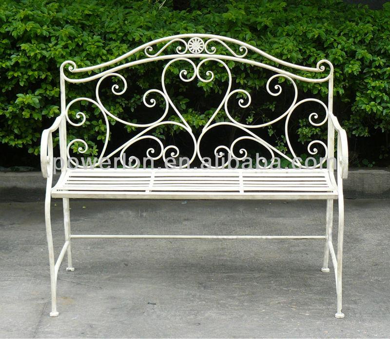 banco de jardim metal:Outdoor Wrought Iron Garden Benches