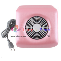 Инструменты для дизайна ногтей Pink White Available Nail Art Dust Suction Collector With Hand Rest Design Comes 2 Bags s v