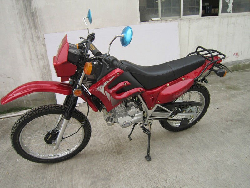 Red 150cc off-road motorcycle
