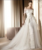 Свадебное платье Low price new style custom made ivory lace wedding dress