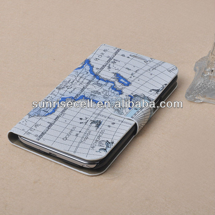 Leather flip case for samsung galaxy note 2
