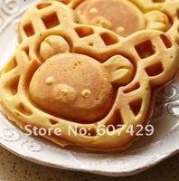FREE SHIPPING NEW Mini Bear Waffle Pan Cast Iron Waffle Iron Pan Maker Waffle Pattern