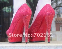 Туфли на высоком каблуке two paragraph waterproof, high heels shoes, colorful diamond women shoes lady's crystal platform women pumps
