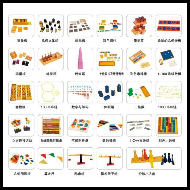Most Popular Best Chinese Montessori Materials 216pcs ...