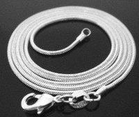 Колье-цепь s! 925 sterling silver 2mm 18inch length snake chain silver necklace. C1