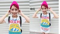 HOT HOT Men and women of fluorescent color line cap hat knitted cap GD hip-hop MaoXianMao set of head cap (MIN ORDER $10)