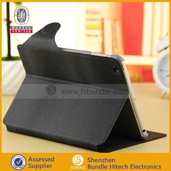 Latest wallet pu case for ipad mini accessories