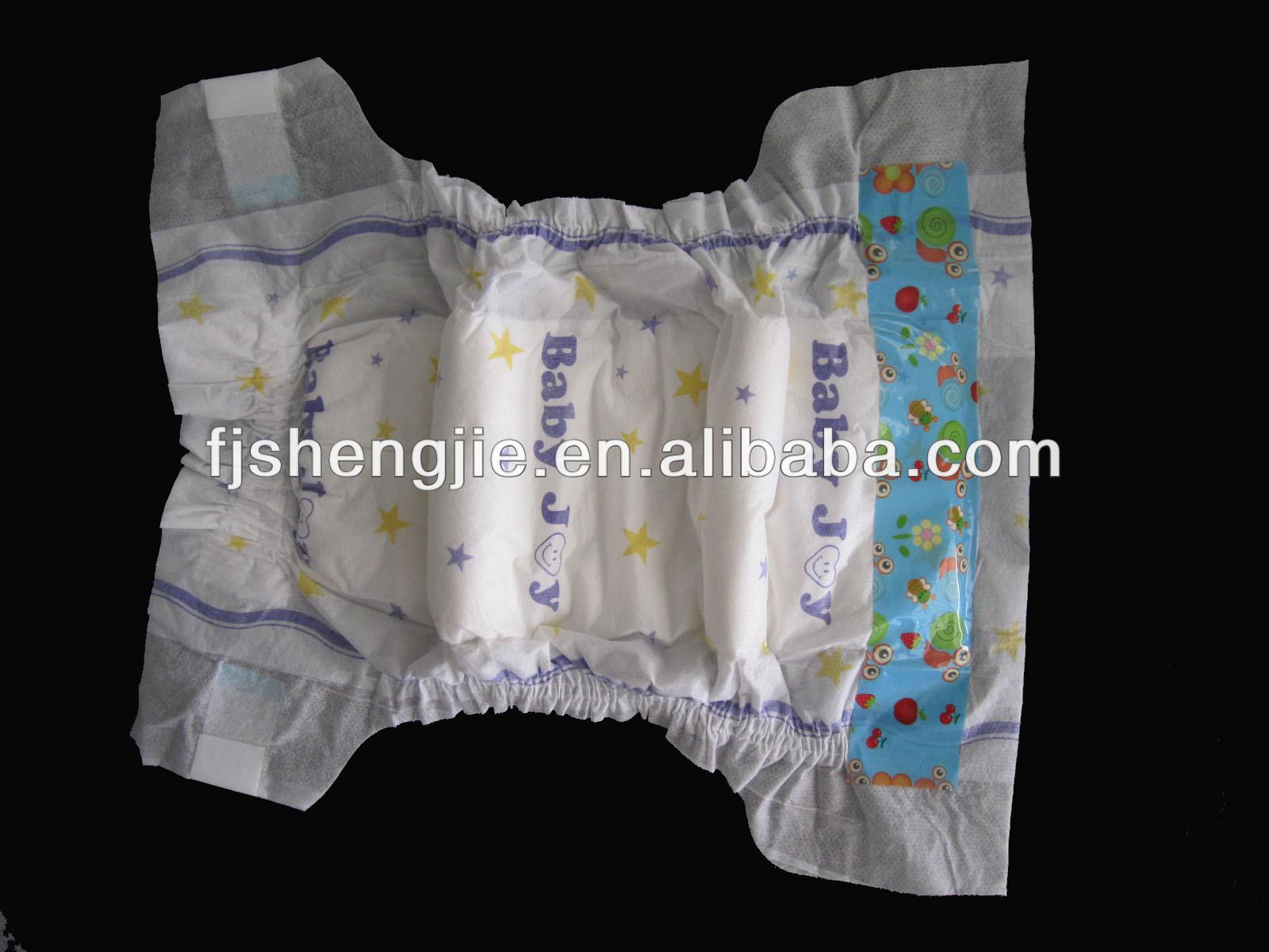 Cloth Like Backsheet Elastic Waitsband Sleepy Baby Diaper