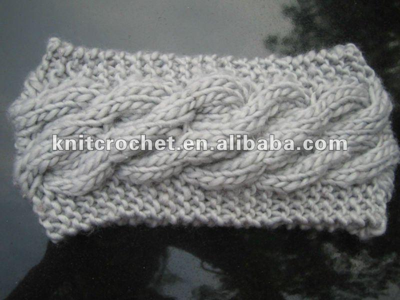 Crochet Headband Pattern Cable : Cute Hand Made Knit Crochet Cable Headband Headwrap Ear ...