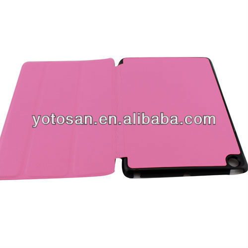 Hot sales leather smart cover for ipad mini