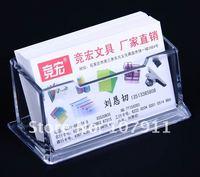 Держатель для визиток 10pcs/lot Clear plastic Business Card Holder Mame Cards Case Display Stands Gift