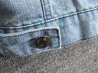 Korean Fashion Womens Vintage Washed Blue Denim Hooded Vest Sleeveless Jacket