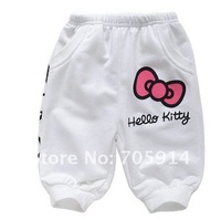 Комплект одежды для девочек 5sets/lot Children Cartoon Hello Kitty sports clothes sets girls summer sets hoodies+ pant suit white/pink color wholesuit