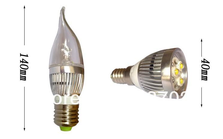 LED-Kerzenleuchte E27 / 4 W