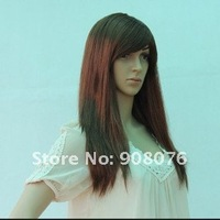 Best selling! The beauty new 3colors fashion synthetic halloween party cosplay wigs long straight wig 1Pcs/Lot Free shipping