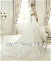Free shipping! 2013 Glamour Collection Uceda Lace Wedding Dress Sweetheart Neckline Design Princess Full A Line Bridal Gown