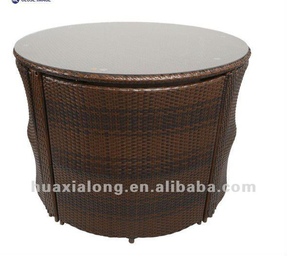 New Design Space-saving Furniture/brown 4 Seat With Round Table ...