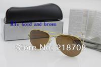 Женские солнцезащитные очки eyewear, sunglasses men and women designer sunglasses RB 3025 Aviator sunglasses, 58mm