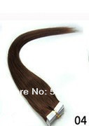 pu skin weft 100g 40PCS #1b 100%remy hair skin weft 28 inch PU skin hair weft+double-sided gum skin weft human hair extensions