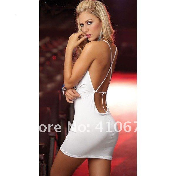 Free Shipping  Hot Sale Babydoll Lady Sexy Lingerie Sexy Dress With G-string Sexy Underwear Party Dress Clubwear  #3028