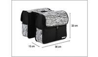 Спортивная сумка 2*28L Mountain Road Bike Bicycle Cycling Riding Saddle Seat Rear Rack Bag Pannier Bag Black