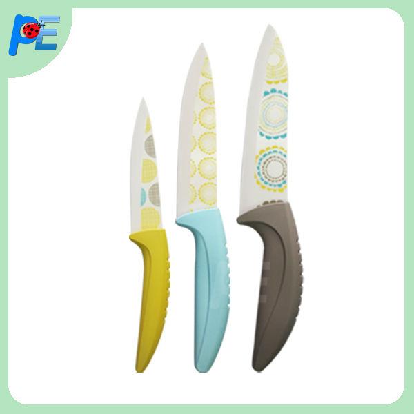 """Indigo blue"" unique design ceramic knife 5"" ceramic fruit knife set"