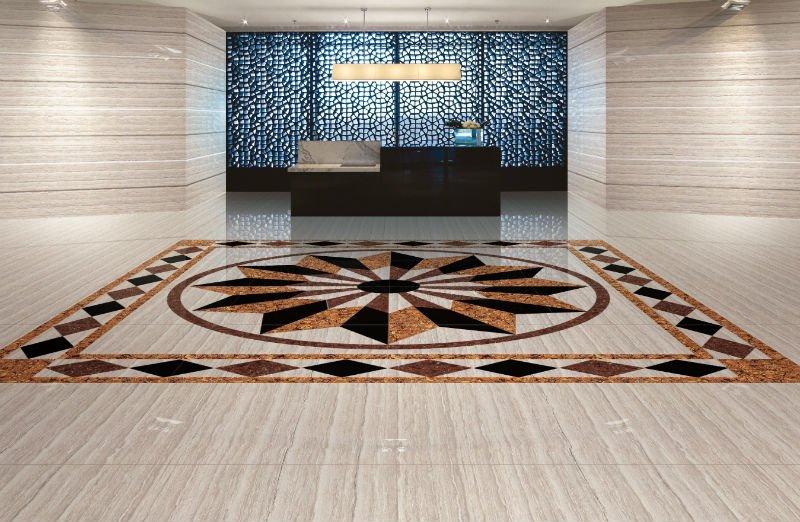 Polished Porcelain Tiles Wood Line Nano Polish View Floor Tiles