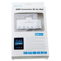 Кардридер 6 in 1 HDMI Adapter Camera Connection Kit USB/TF/SD for iPad/iPhone/iTouch +Drop Shipping
