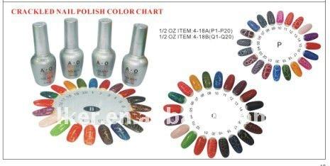 2011 Crackled Nail Polish Color Chart - Buy Crackled Nail Polish