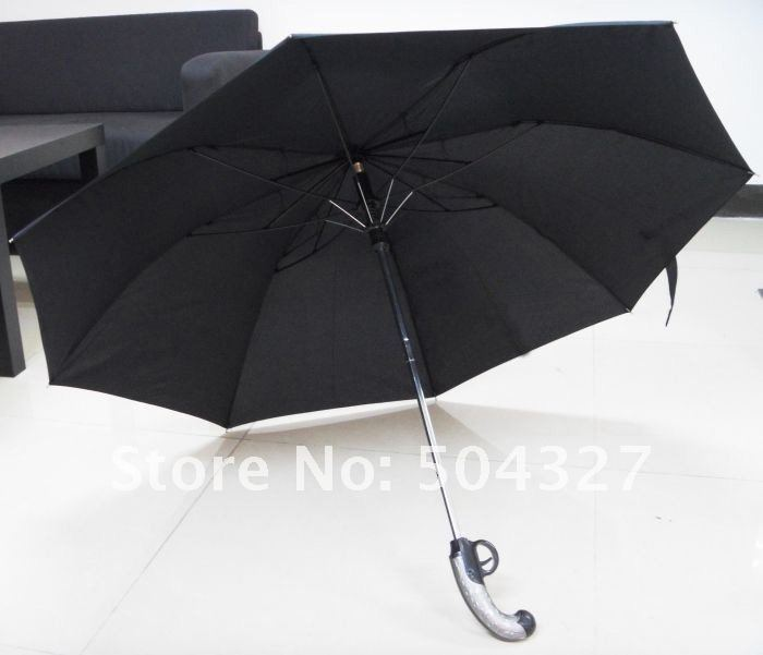 Free Shipping 5pcs/lot Gun Umbrella Gunbrella - When Rain Is The Enemy, Defend Yourself With The Gunbrella