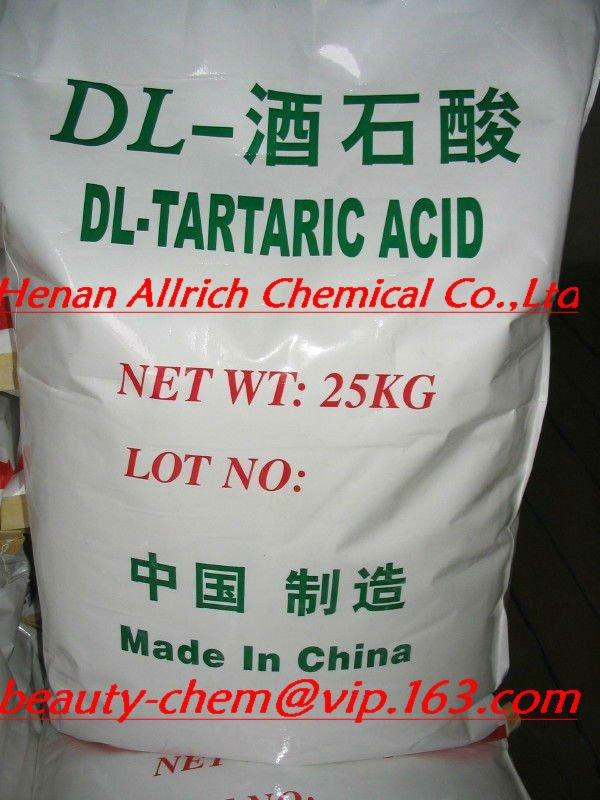FCCIV,FDA,COS Tartaric Acid L Factory Price
