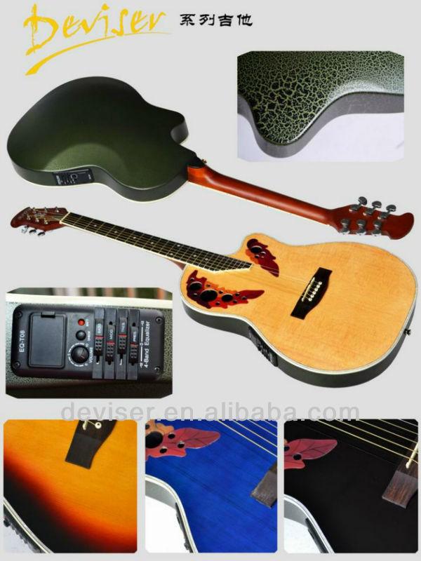 41 ''polegadas barato iniciante acústico cutway guitarra instrumento musical violão ovation