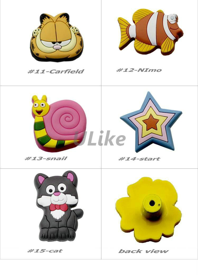 15 Models, Lovely Cute Baby Kids Children Novelty Cartoon Cabinet DRAWER Pull KNOB Handle Rubber, 12pcs/lot, Free shipping, DP09