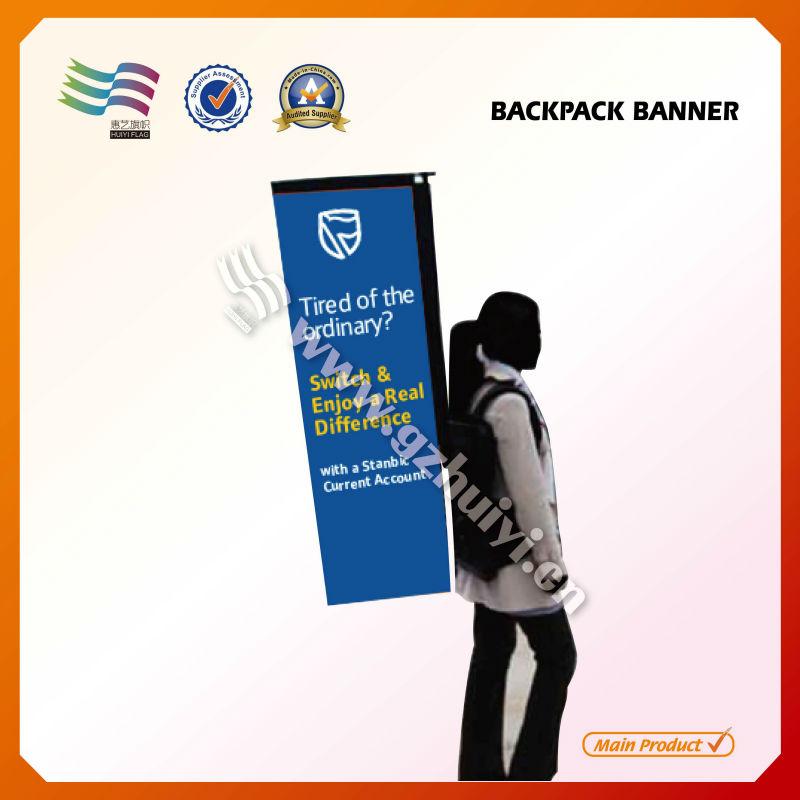 New tears backpack advertising custom flags