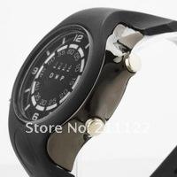 Наручные часы 2013 led binary New Rubber Blue Binary LED Watch Mens Diving Sport Clock 30M Waterproof Watch