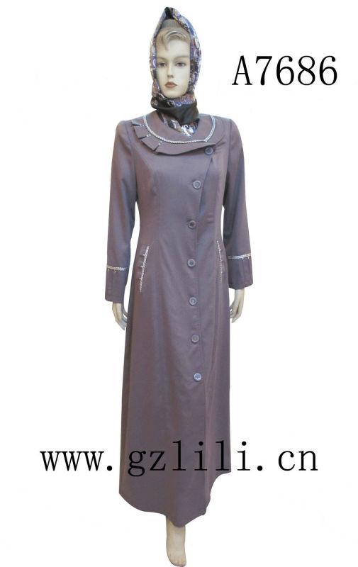 2013 Modern chiffon baju kurung and kebaya (A7686)