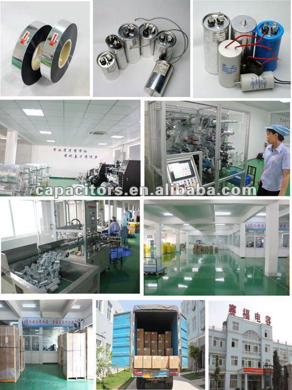 AC Motor running water pump CBB60 capacitor 450VAC 22UF