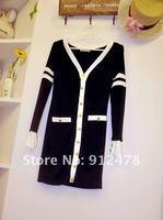 мода нового мило одежду женщин сексуальная Хлопок одежда двойной грудью платья сложных мини-платье