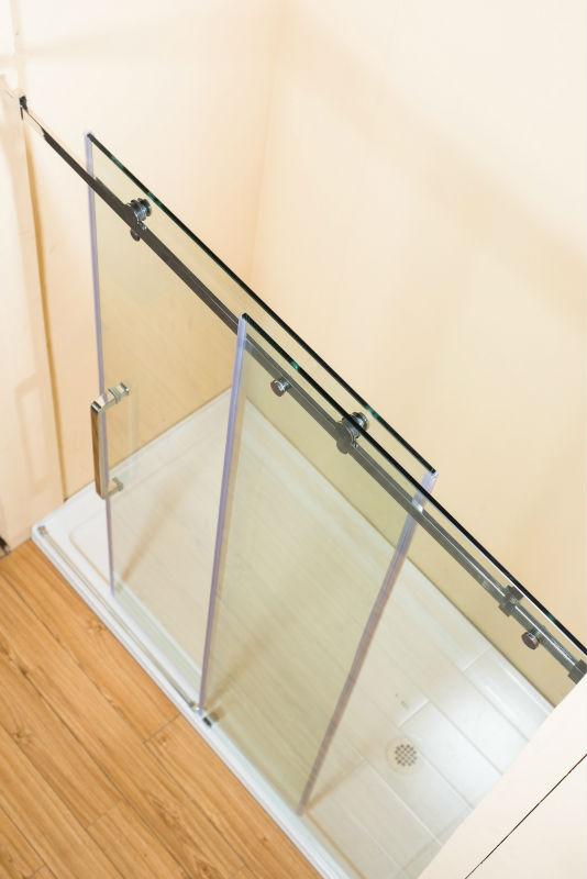 Wheels sliding shower doors duschkabine salle d eau buy - Dimension salle d eau ...