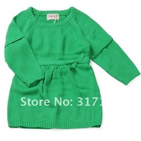 Свитер для девочек EMS! GIRLS/BABY/TODDLERS CERTIFIED ORGANIC COTTON SWEATER, GIRLS KNITTED DRESS