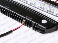 Дневные ходовые огни 12W High Power xenon White LED Daytime Running Light DRL Lamp Kit 12 LED Car Daylight Daytime Running Lamp LED DRL10V-30V DC